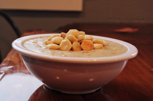 chowder in a bowl